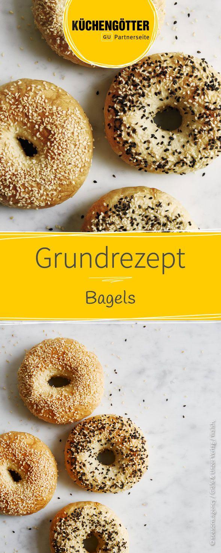 Grundrezept für Bagels mit Sesam