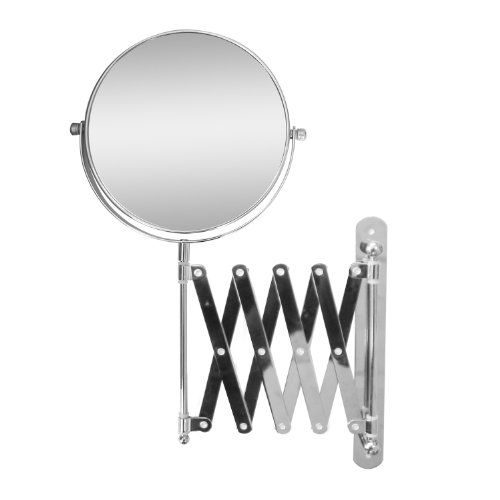 Elegant Home Fashions Extendable Wall Mount Bath Magnifying Makeup Mirror * See this great product.