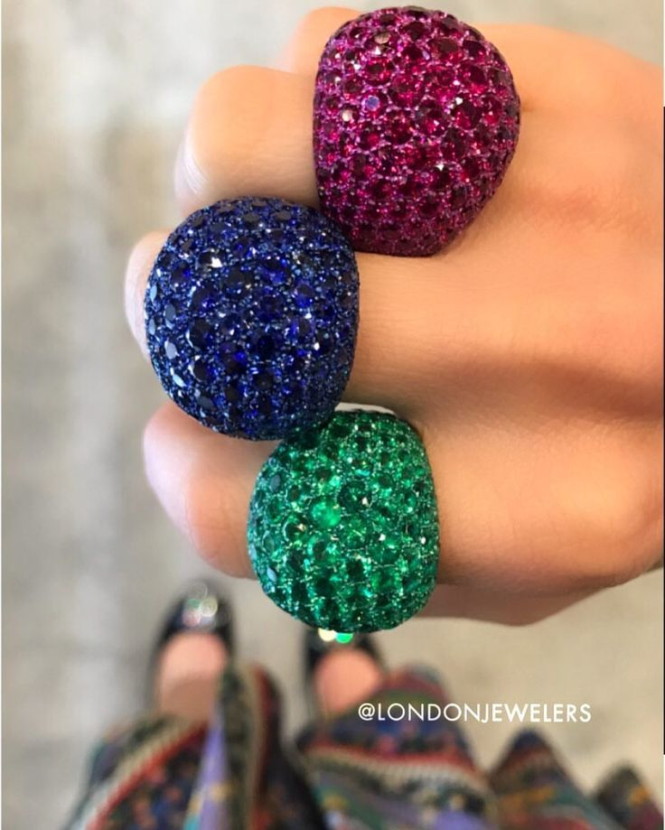 London Jewelers  (@londonjewelers) on Instagram: Ruby? Emerald? Or Sapphire? What type of girl are you @londonjewelers • • • • #ruby #emerald