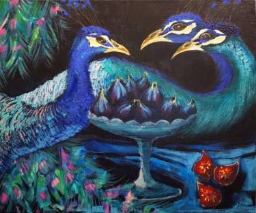"Saatchi Art Artist Magdalena Nałęcz; Painting, """"Gardens of delights IV"""" #art"