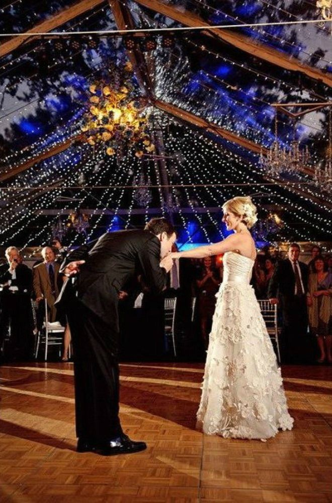 Line the reception hall with fairy lights so your first dance is underneath sparkling stars   Jess + Nate Studios