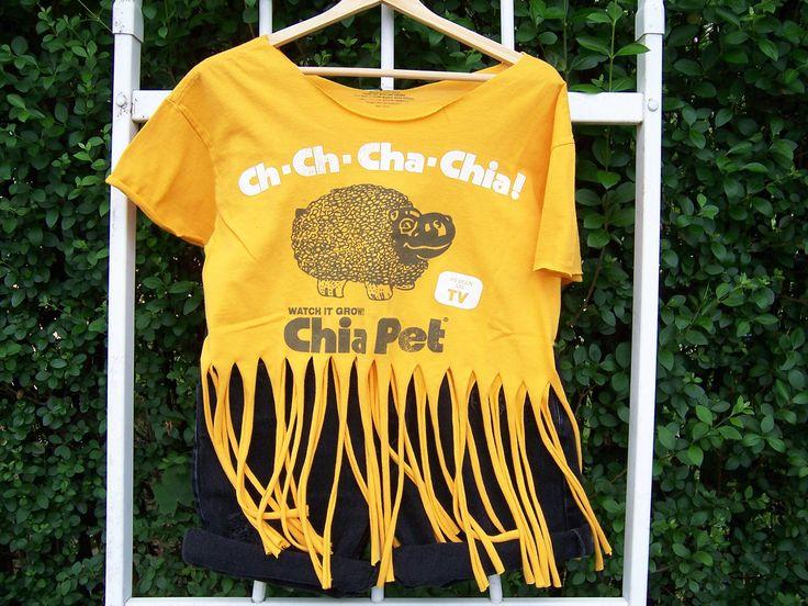 Cute Cut Up Shirt Designs | SALE Ch Ch Cha Chia Shredded Fringed Cut Up by ChondashersApparel