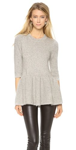 10 Crosby Derek Lam Peplum Sweater | SHOPBOP