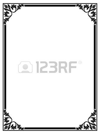 Вектор простой черный художник-каллиграф декоративные орнамент кадра