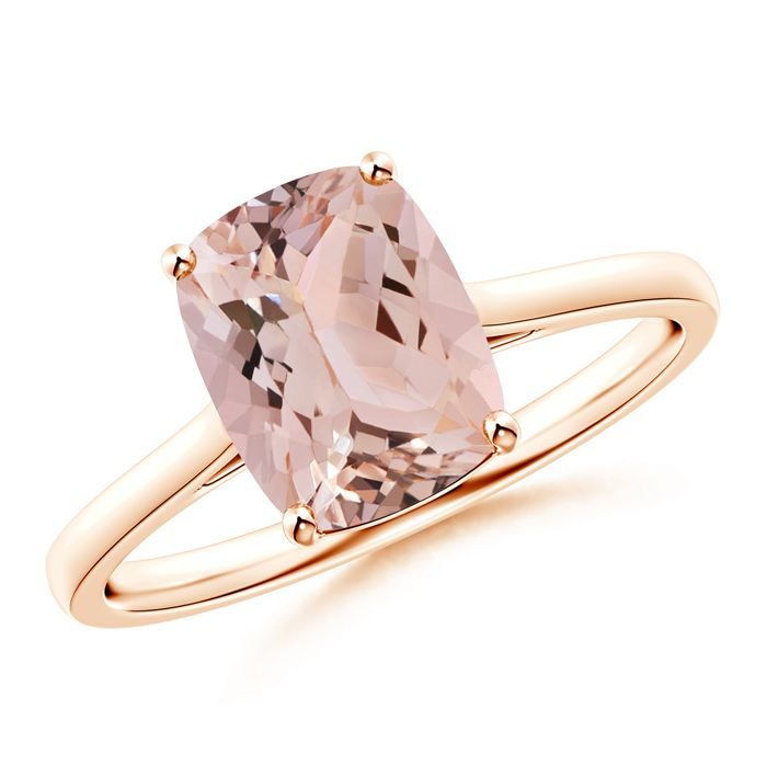 Angara Solitaire Morganite Infinity Knot Ring in 4-Prong Setting 9dtB6wU