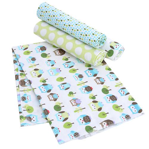 Just Born Babywise 4 Pack Flannel Receiving Blankets