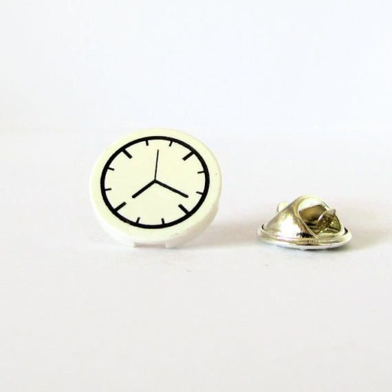 Clock Pin-Lapel Pin-Suit Lapel Pin-Collector's Pin-Geek Birthday Gift-Clock Lovers Gift-Nerds Pin-Cheap Brooches-Birthday Pin-Unisex Brooch