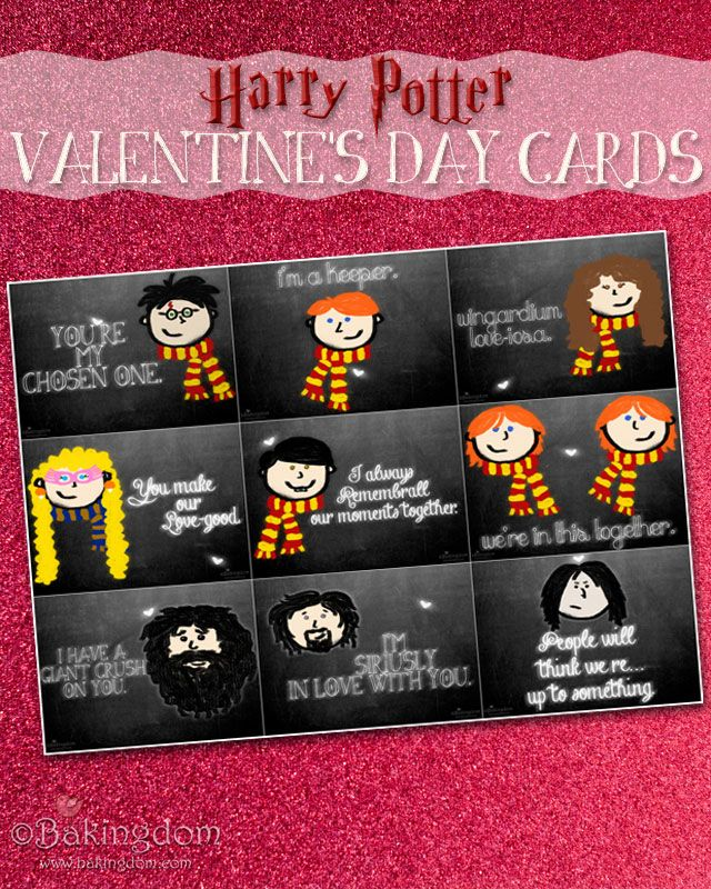 40 best images about Harry Potter Valentines – Free Printable Valentine Cards for Friends