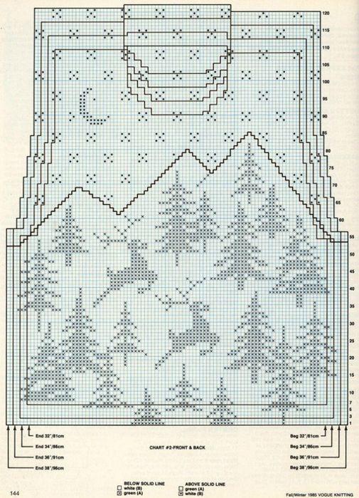 Вязаный свитер с оленями   Вяжем с Лана Ви