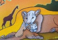 Pop-Up Card: Lioness and Cubs materials for children in pre-K and kindergarten from KiGaPortal.com