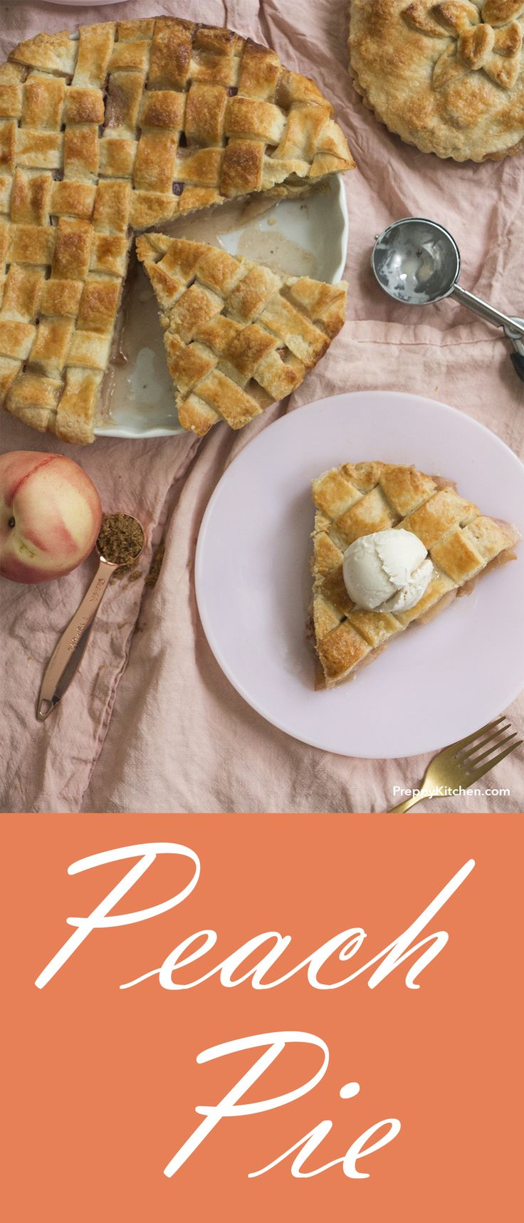 A spruced up version of the traditional Southern Peach Pie. The bourbon flavors your soul and will have you licking the pie pan   southern dessert, easy pie recipes, how to make pie, how to create lattice top on pie