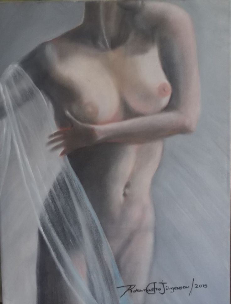 Óleo sobre tela de 30x40, de la Serie de Desnudos,  30x40