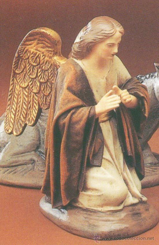 ANGEL DE BARRO ESTILO MURCIANO DE 21 CM PARA NACIMIENTO TOTALMENTE NUEVO (Otros Coleccionismos - Artesanía)