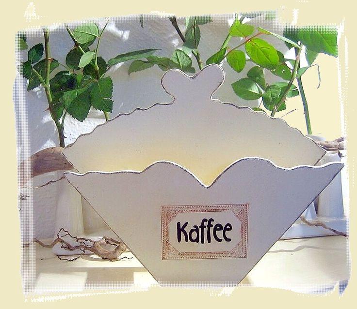 Kaffeefilterhalter im Landhaus-Design