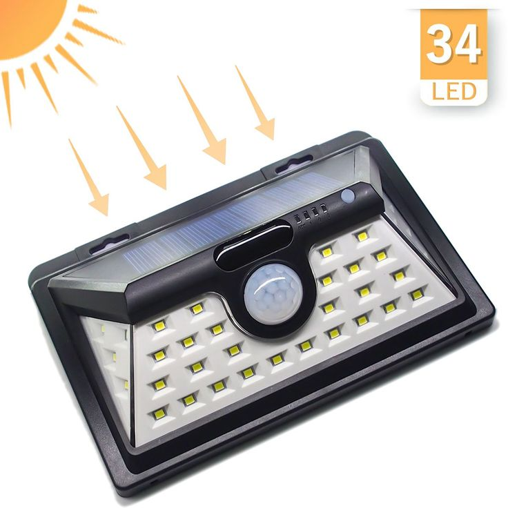 Solar Lights Outdoor Bright Ed Security Waterproof Motion Sensor Lighting For Wall
