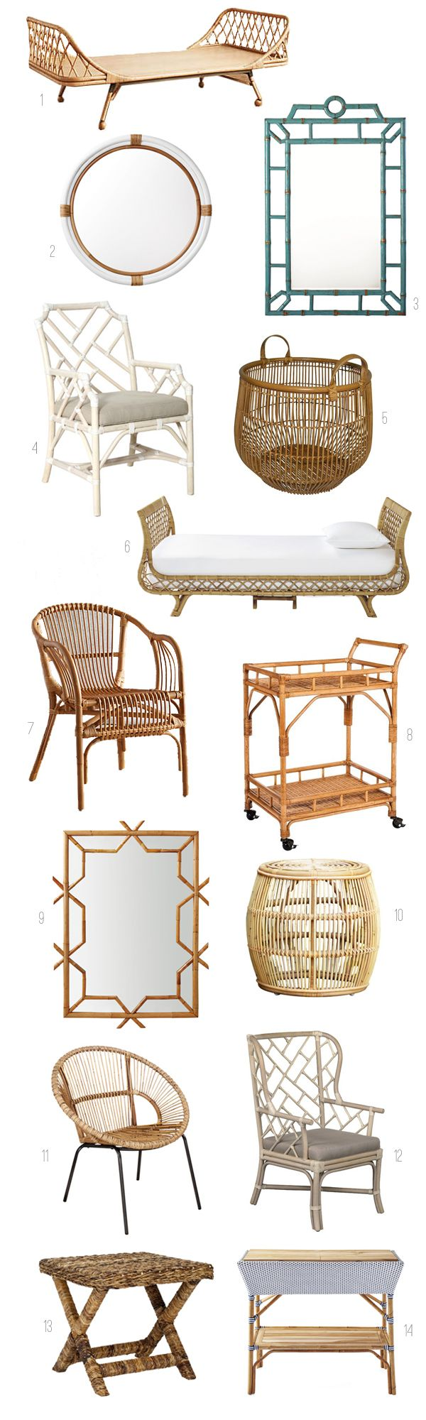 Rattan Decor and Furniture Roundup - The Inspired Room