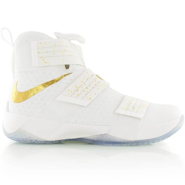 nike LeBron Soldier 10 SFG LMTD Shoe WHITE/METALLIC GOLD-DARK OBSIDIAN