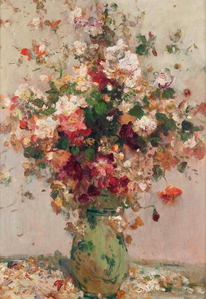 ❀ Blooming Brushwork ❀ - garden and still life flower paintings - Konečný Josef