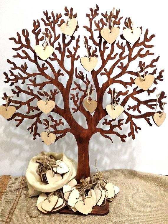 Wedding Guestbook Tree Unique Guestbook Alternative Wedding Etsy In 2020 Wooden Guest Book Tree Wedding Tree Guest Book Rustic Wedding Guest Book