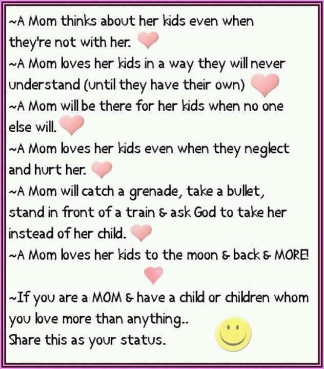 A mom thinks about her kids even...