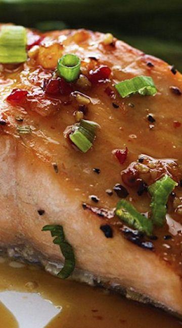 Sweet Chili Garlic Glazed Salmon