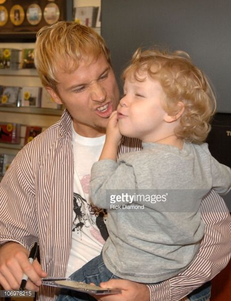 Brian Littrell and Bailey during Brian Littrell Release Party for New Album 'Welcome Home' at LifeWay Christian Book Store May 2 2006 at LifeWay...