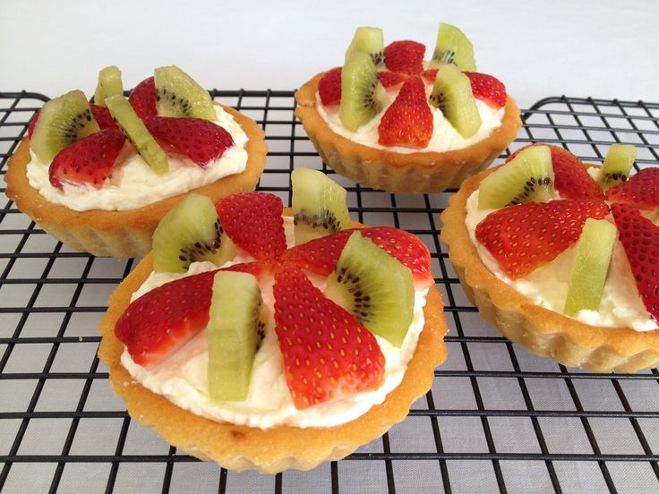 Strawberry, Kiwi & Coconut Tartlets