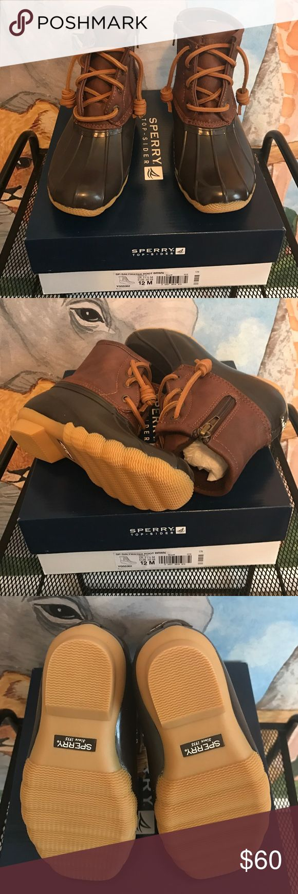 Sperry Top-Sider Boots Brand new in box 📦 Sperry Top-Sider Saltwater Boot Brown 12c. Sperry Top-Sider Shoes Rain & Snow Boots