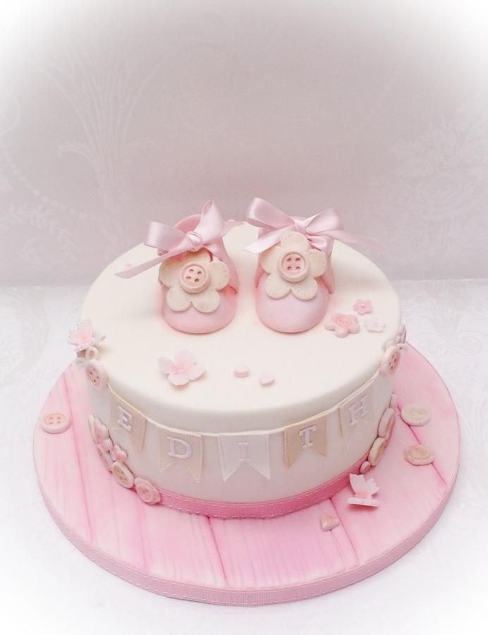 Vintage style christening cake - Cake by Samantha's Cake Design