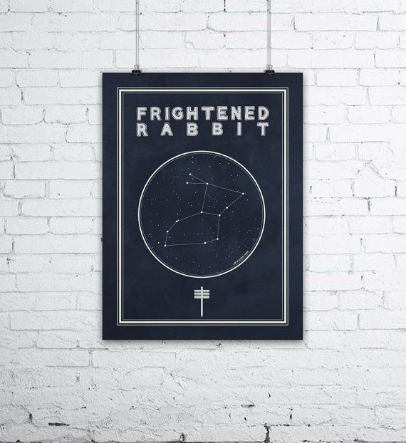 Frightened Rabbit Constellation Poster