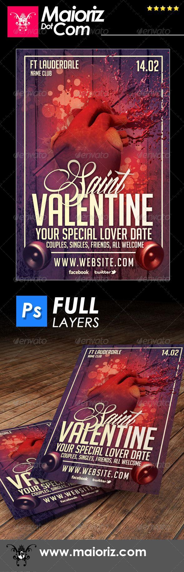 Saint Valentines Flyer Holiday