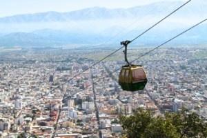 The cable car up to San Bernardo Mountain