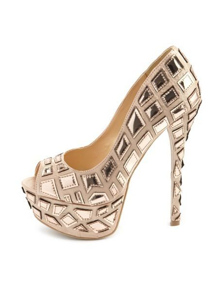 Womens High Heels Fioni Night Womens Holly Shimmer Pumps Heels Factory Outlet