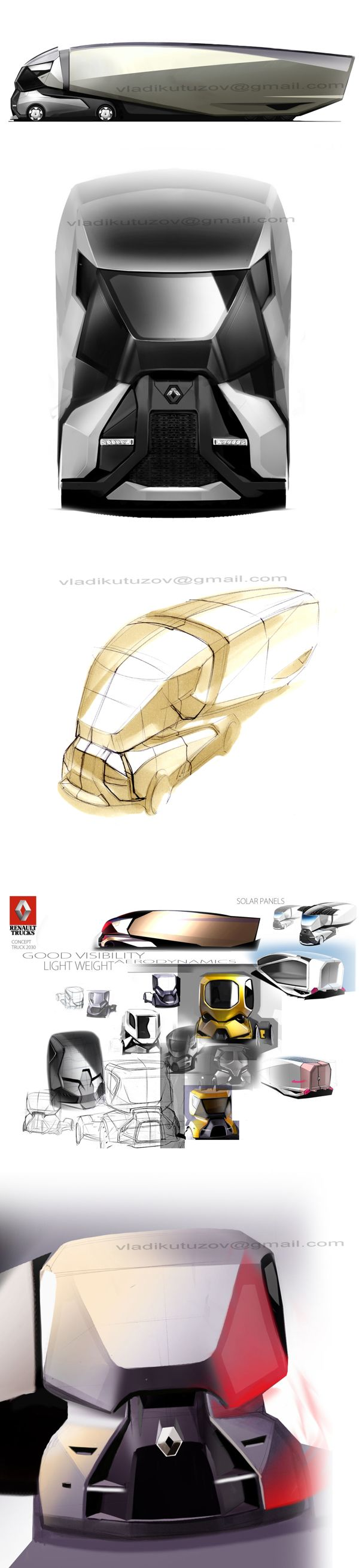 concept TRUCK by vladimir kutuzov, via Behance