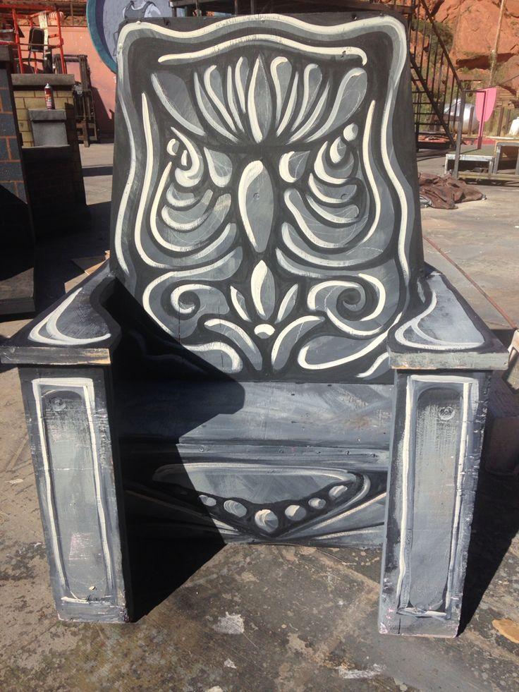 Painted King Louie chair. Jungle Book.