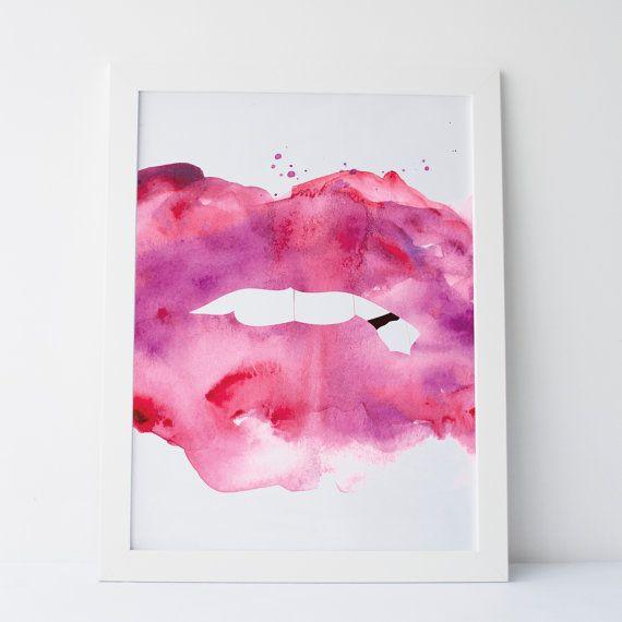 Printable+Art+Abstract+Lips+Lips+Art+Lips+by+elemenopeedesign