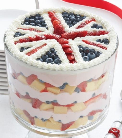Cool jubilee trifle - I love my pampered chef trifle bowl!