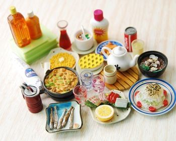 Großhandel orcara 20 stück re- ment Mahlzeit fruchtgetränk japan~1:12 miniatur puppenhaus billige küche spielen spielzeug puppen zubehör