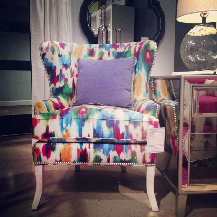 Drexel Heritageu0027s Tie Dyed Wingback Chair 121