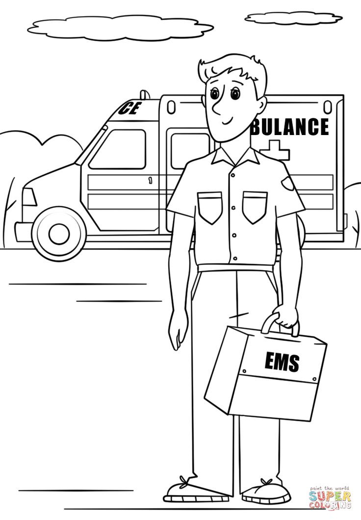 Paramedic Coloring Page Free Printable Coloring Pages Coloring Pages Paramedic Toddler Lessons