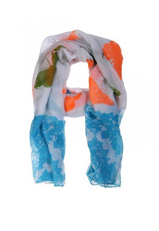 Amust Butterfly scarf blue