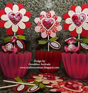 Stampin' Up! Treat Holder Geraldine Andrade Flower Folds