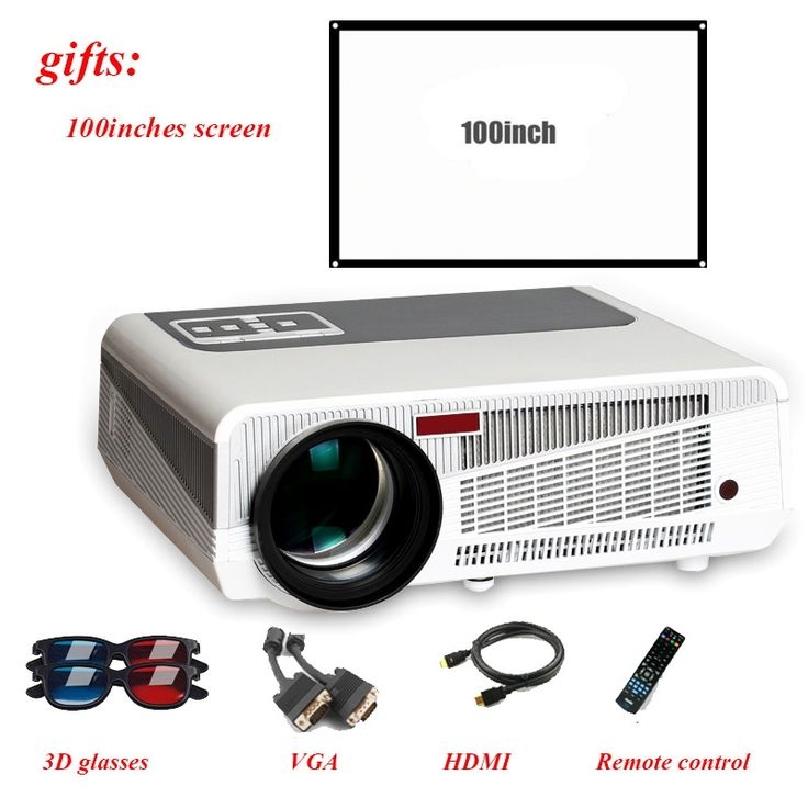 237.23$  Buy now - http://alikkx.worldwells.pw/go.php?t=32790144490 - 100% Poner Saund Projector 3600 Lumens TV Home Theater LED Projector Support Full Hd 1080p Video Media player Hdmi LCD 3D Beamer 237.23$