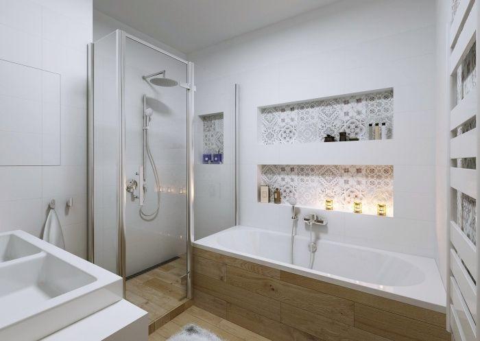 1001 astuces pour am nager une petite salle de bain avec baignoire home ideas pinterest - Amenager une salle de bain de 5m2 ...