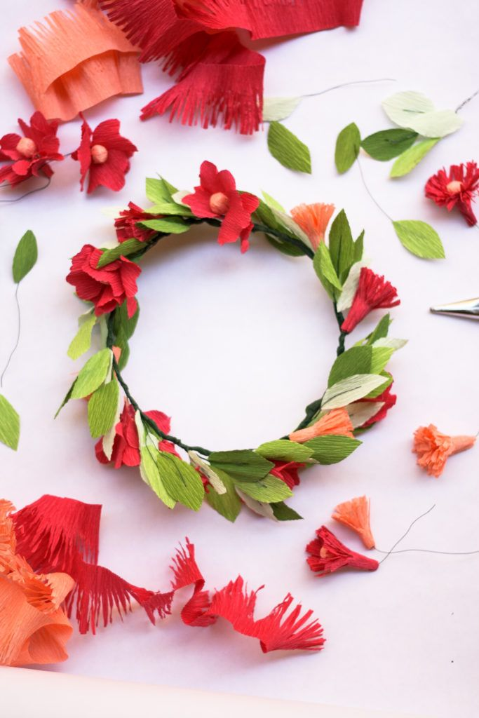 Paper Flower Headband DIY | 1024x683