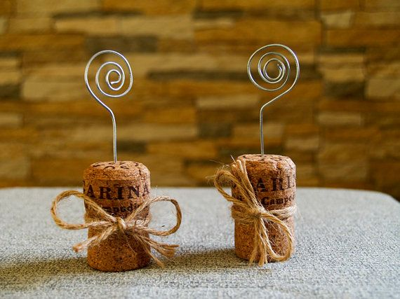 Champagne Cork Place Card Holder Set of 15 by Agitasworks on Etsy, $16.50