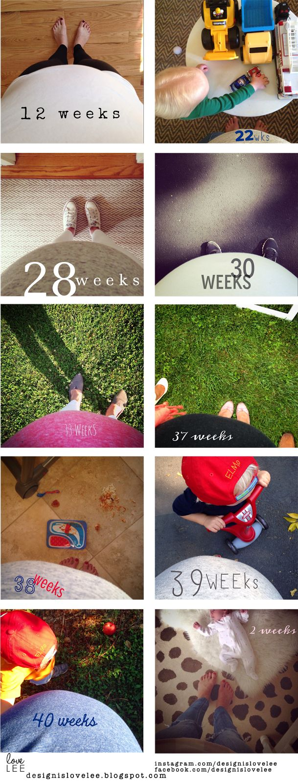 weekly baby bump photos // pregnant belly week by week // maternity photos