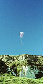 Newhaven - Paragliding over cliffs at Newhaven © Diana Hitchin
