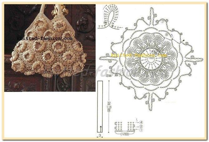 БЕЖЕВАЯ СУМКА,вязание, вязание крючком,схемы вязания,схемы вязания крючком, вязание крючком схемы,вязание для женщин крючком
