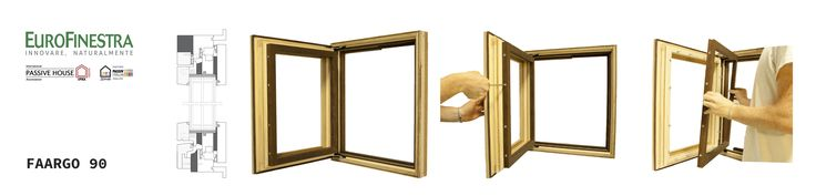 wood and cork window frame with removable external parts